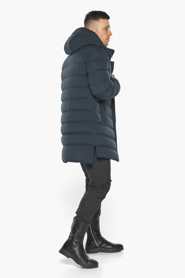 """Удобная графитово-синяя зимняя мужская куртка модель 49080 Braggart """"Aggressive"""" фото 9"""