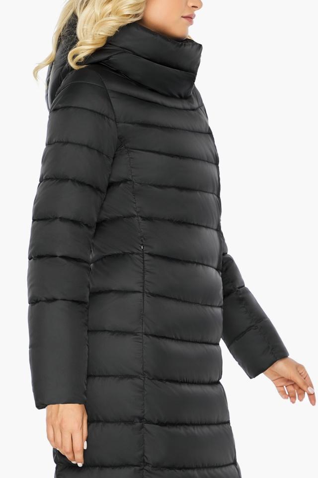 """Чёрная куртка женская с вшитым капюшоном модель 46620 Braggart """"Angel's Fluff"""" фото 10"""