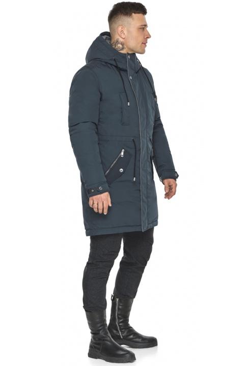 """Куртка – воздуховик стильный графитово-синий мужской зимний модель 30882 Braggart """"Angel's Fluff Man"""" фото 1"""
