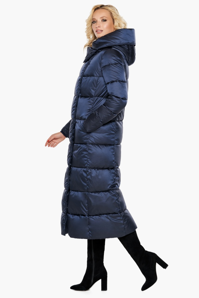 """Куртка женская модная на зиму цвет синий бархат модель 31056 Braggart """"Angel's Fluff"""" фото 4"""
