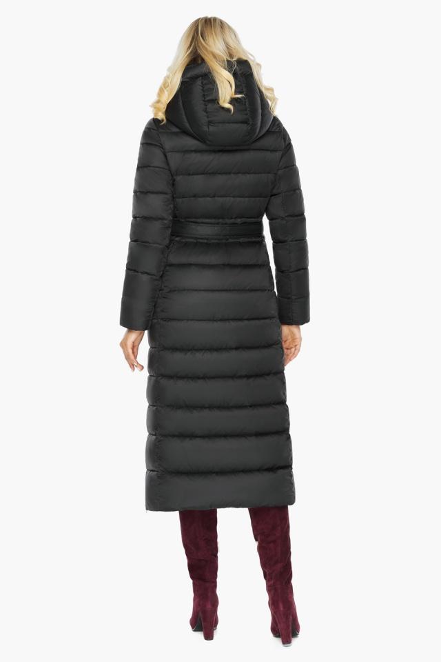 """Чёрная куртка женская с вшитым капюшоном модель 46620 Braggart """"Angel's Fluff"""" фото 9"""