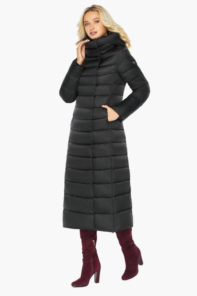 """Чёрная куртка женская с вшитым капюшоном модель 46620 Braggart """"Angel's Fluff"""" фото 6"""