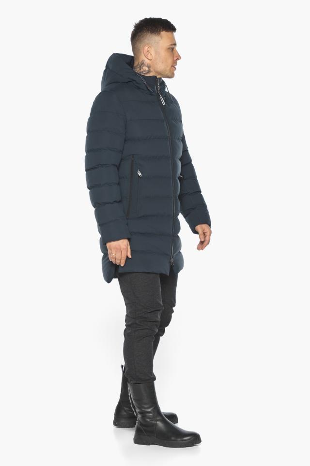 """Удобная графитово-синяя зимняя мужская куртка модель 49080 Braggart """"Aggressive"""" фото 6"""