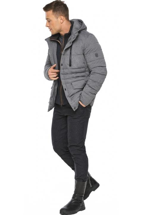 """Куртка – воздуховик попелястий зимовий на блискавці чоловічий модель 15078 Braggart """"Angel's Fluff Man"""" фото 1"""