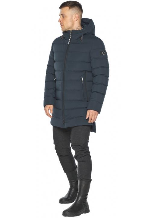 """Удобная графитово-синяя зимняя мужская куртка модель 49080 Braggart """"Aggressive"""" фото 1"""