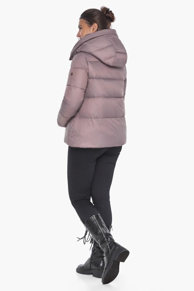 """Короткая пудровая куртка женская зимняя модель 43560 Braggart """"Angel's Fluff"""" фото 5"""