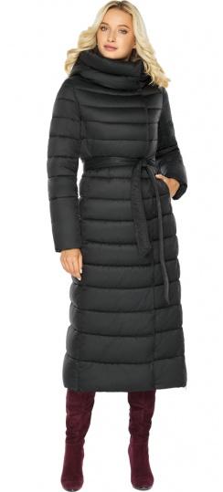 """Чёрная куртка женская с вшитым капюшоном модель 46620 Braggart """"Angel's Fluff"""" фото 1"""