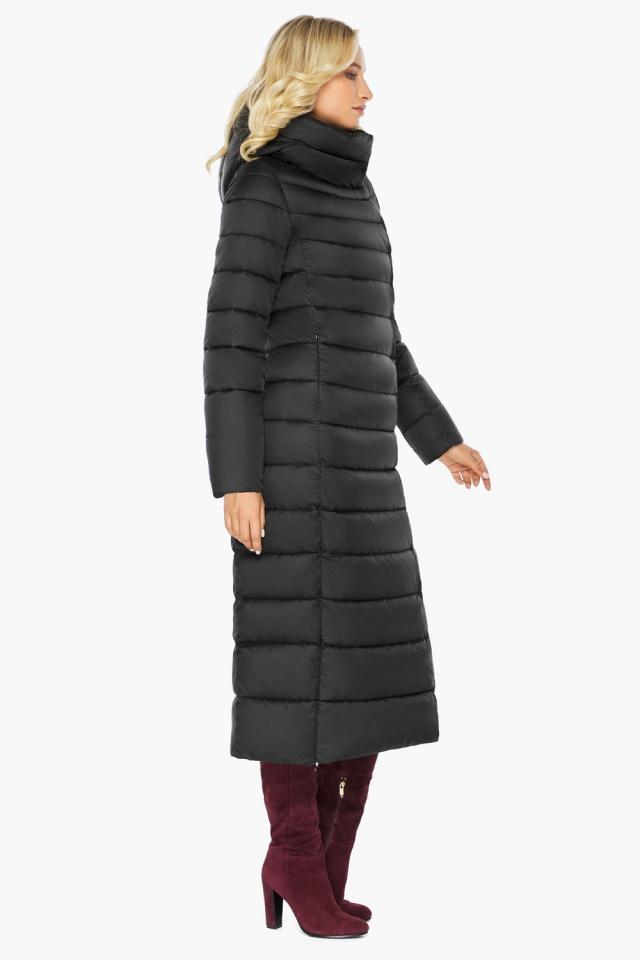 """Чёрная куртка женская с вшитым капюшоном модель 46620 Braggart """"Angel's Fluff"""" фото 8"""