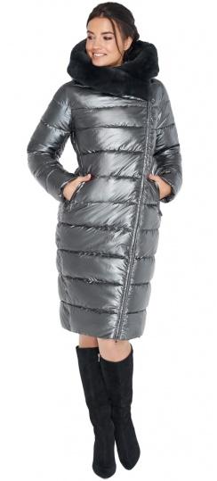 """Куртка на зиму женская цвет тёмное серебро модель 31049 Braggart """"Angel's Fluff"""" фото 1"""