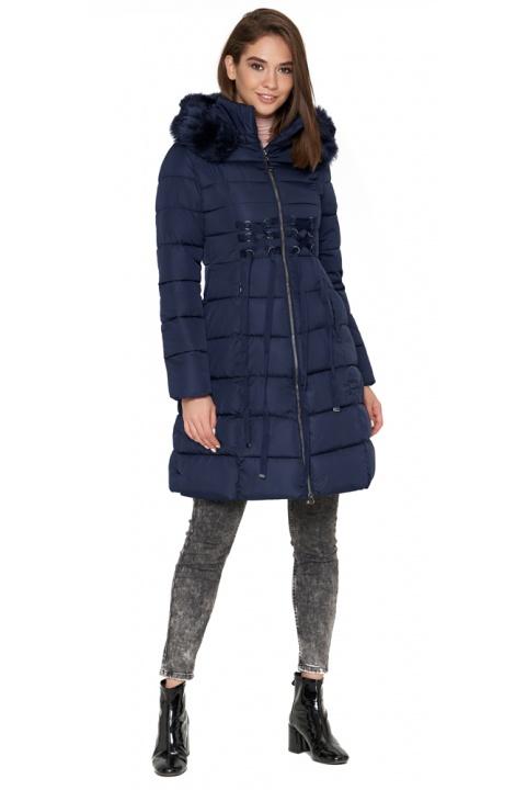 Синя куртка жіноча з коміром-стійкою зимова модель 1816 Tiger Force фото 1