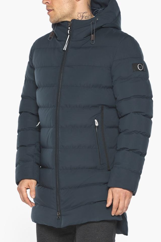 """Удобная графитово-синяя зимняя мужская куртка модель 49080 Braggart """"Aggressive"""" фото 11"""