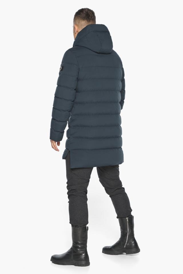 """Удобная графитово-синяя зимняя мужская куртка модель 49080 Braggart """"Aggressive"""" фото 10"""
