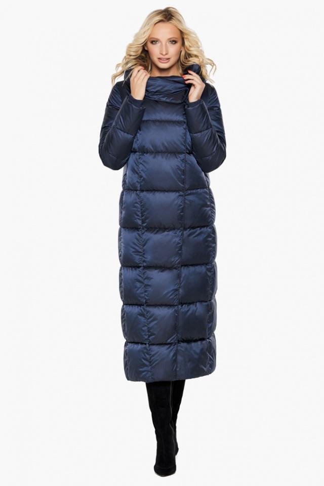 """Куртка женская модная на зиму цвет синий бархат модель 31056 Braggart """"Angel's Fluff"""" фото 2"""