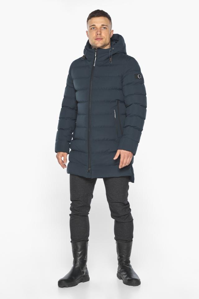 """Удобная графитово-синяя зимняя мужская куртка модель 49080 Braggart """"Aggressive"""" фото 5"""