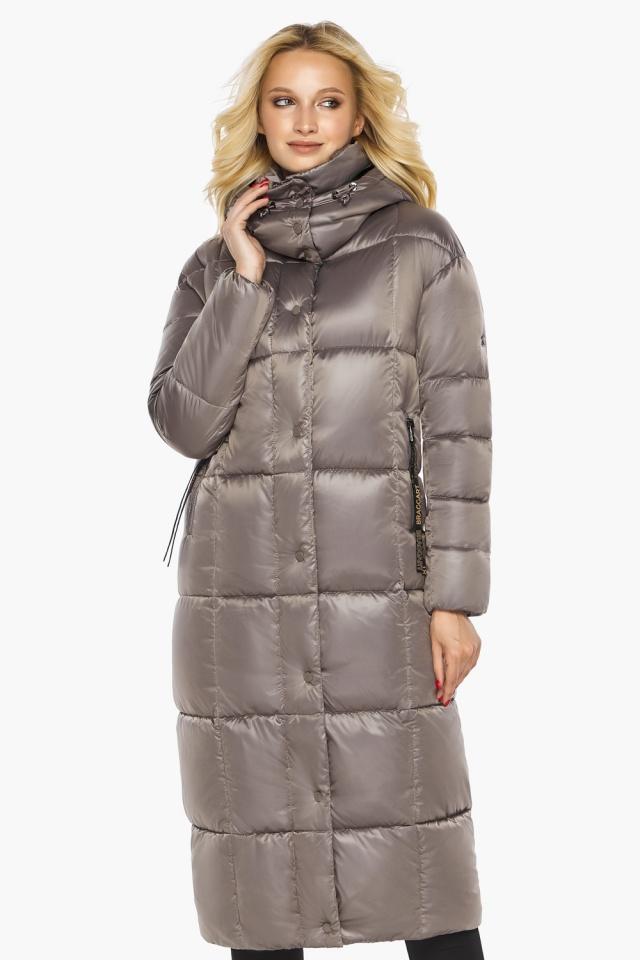 """Куртка теплая зимняя женская цвет кварцевый модель 42830 Braggart """"Angel's Fluff"""" фото 5"""