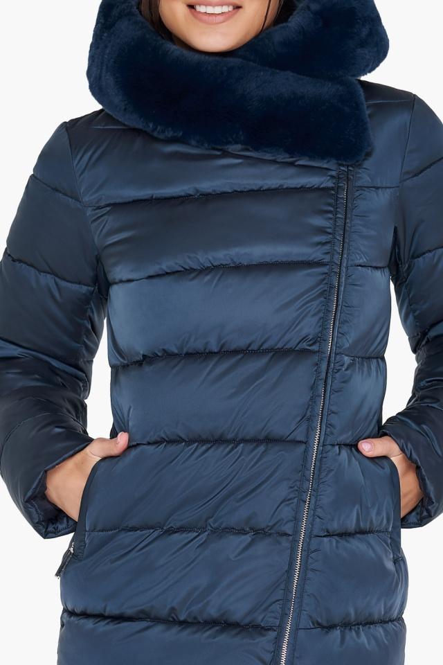 """Женская зимняя куртка цвет сапфировый модель 31049 Braggart """"Angel's Fluff"""" фото 8"""