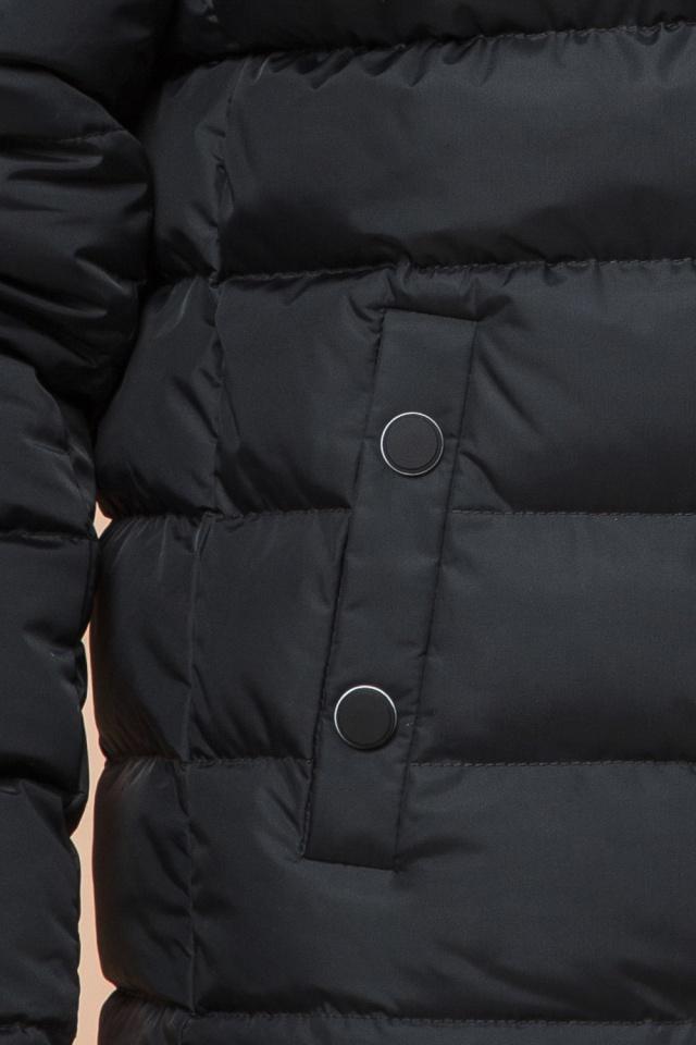 """Куртка прямого фасона для мальчика зимняя графитовая модель 76025 Braggart """"Teenager"""" фото 7"""