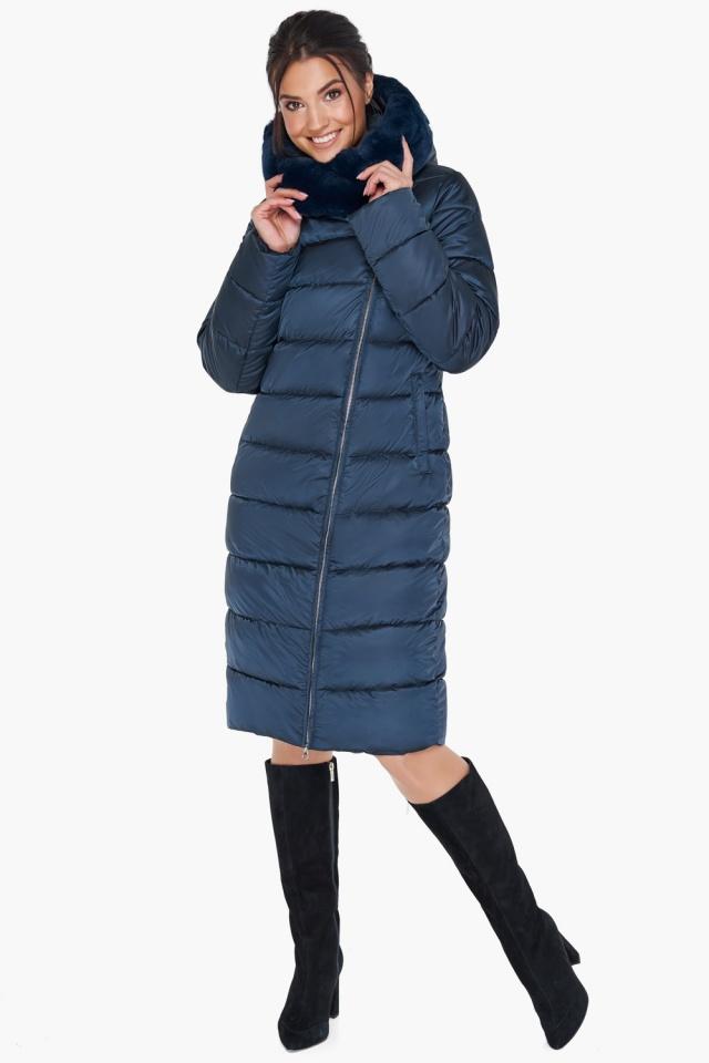 """Женская зимняя куртка цвет сапфировый модель 31049 Braggart """"Angel's Fluff"""" фото 2"""