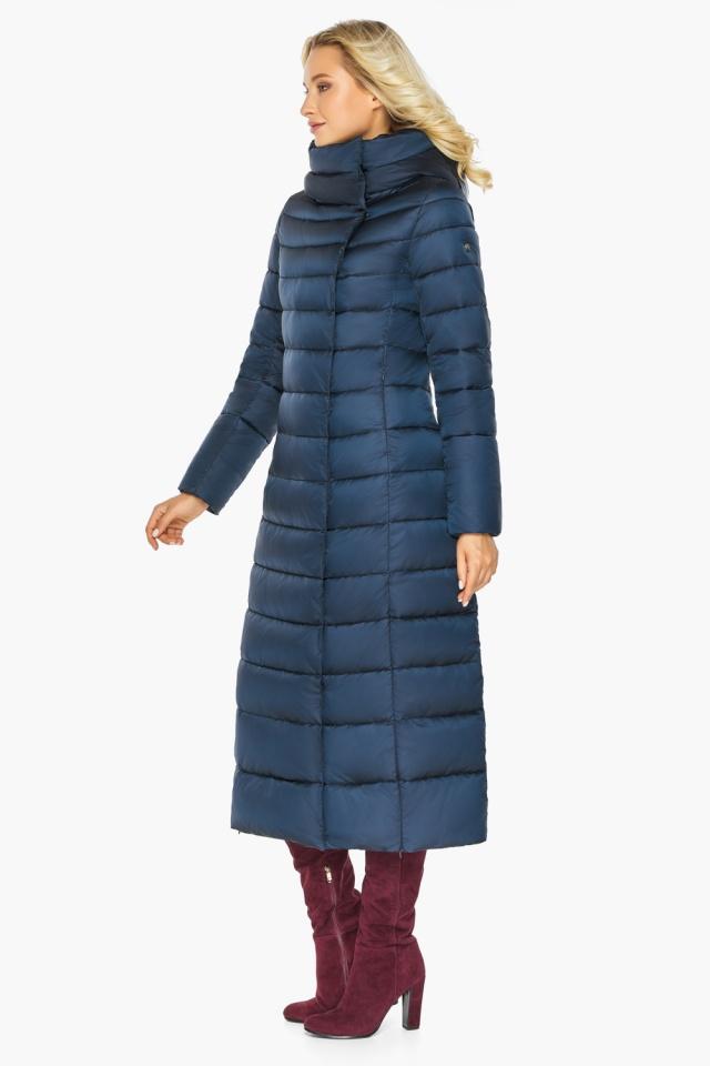 """Сапфировая куртка длинная женская модель 46620 Braggart """"Angel's Fluff"""" фото 5"""