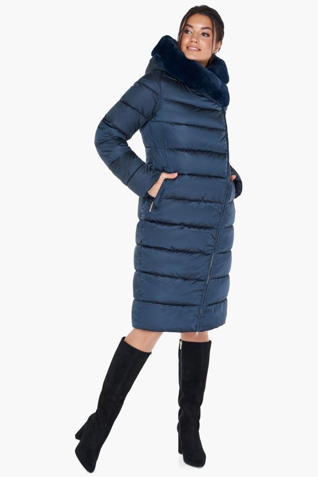 """Женская зимняя куртка цвет сапфировый модель 31049 Braggart """"Angel's Fluff"""" фото 4"""