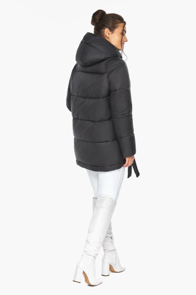 """Черная короткая куртка женская зимняя модель 43070 Braggart """"Angel's Fluff"""" фото 5"""