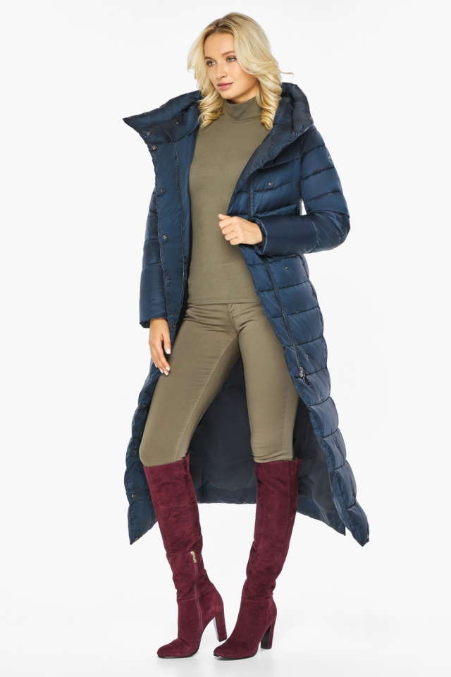 """Сапфировая куртка длинная женская модель 46620 Braggart """"Angel's Fluff"""" фото 3"""