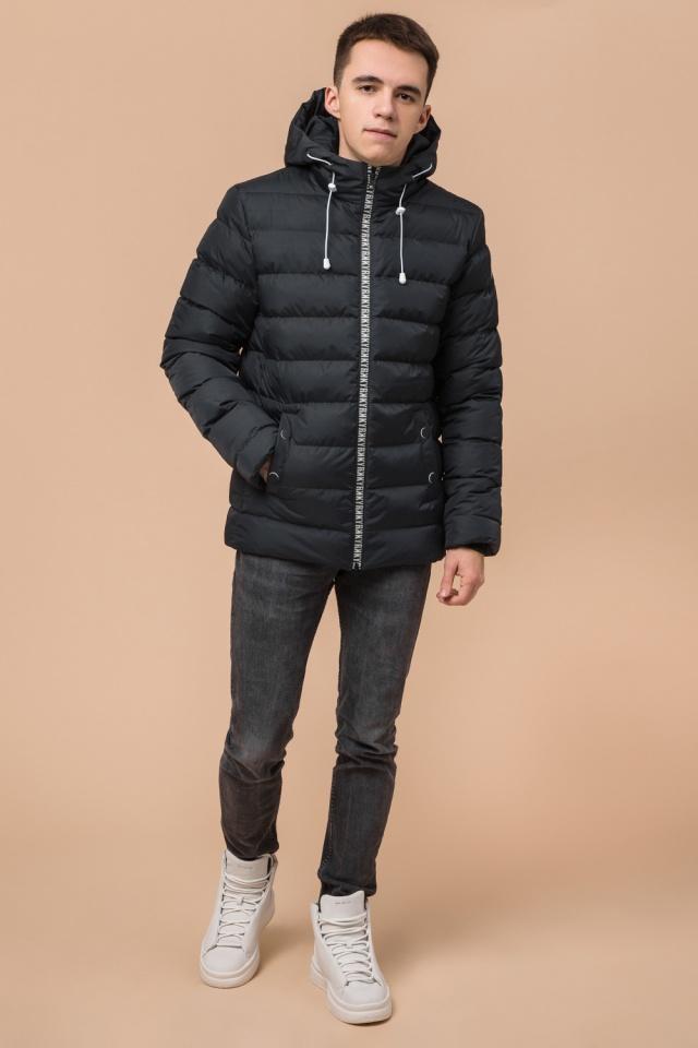 """Куртка прямого фасона для мальчика зимняя графитовая модель 76025 Braggart """"Teenager"""" фото 2"""