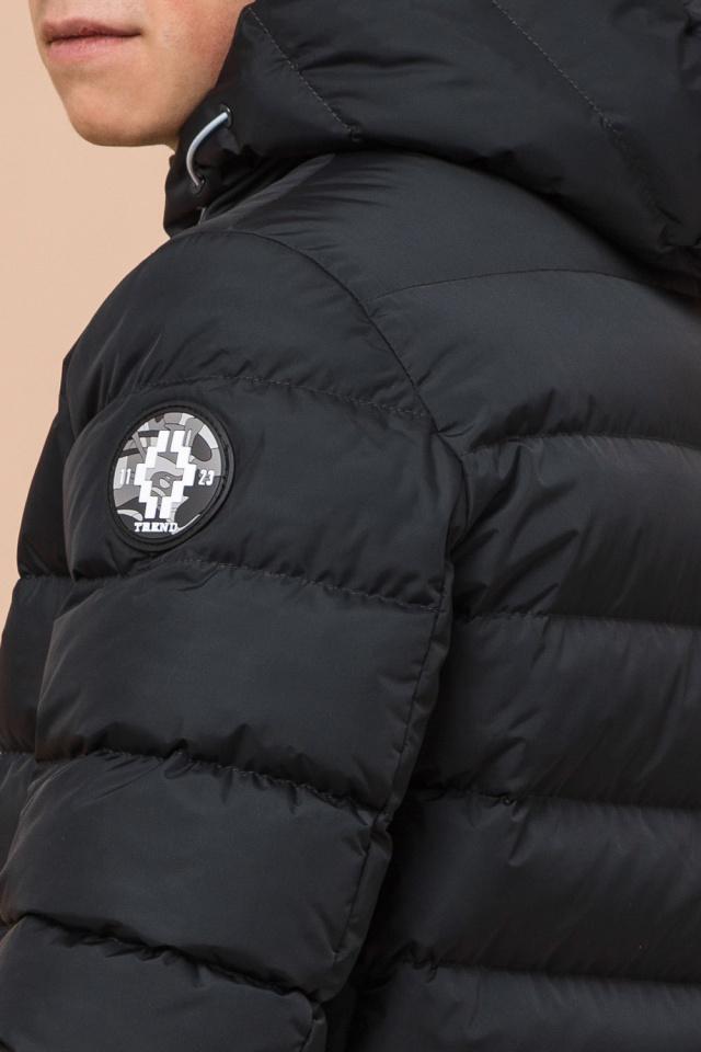 """Куртка прямого фасона для мальчика зимняя графитовая модель 76025 Braggart """"Teenager"""" фото 8"""