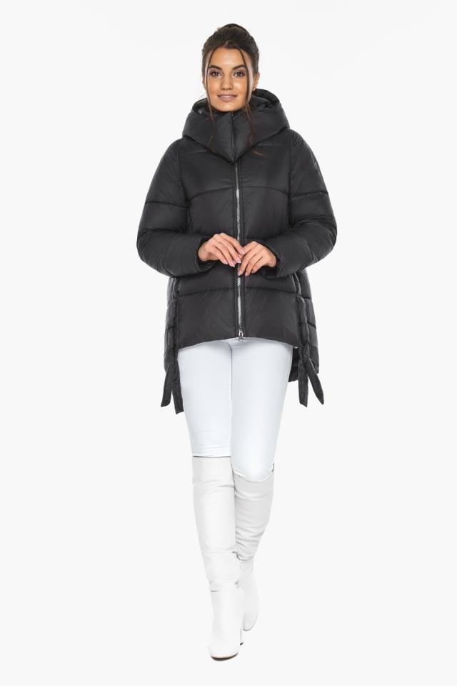 """Черная короткая куртка женская зимняя модель 43070 Braggart """"Angel's Fluff"""" фото 4"""