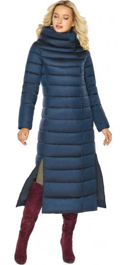 """Сапфировая куртка длинная женская модель 46620 Braggart """"Angel's Fluff"""" фото 1"""