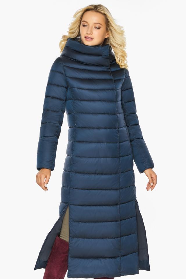 """Сапфировая куртка длинная женская модель 46620 Braggart """"Angel's Fluff"""" фото 6"""