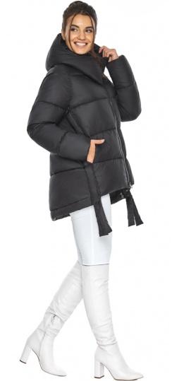 """Черная короткая куртка женская зимняя модель 43070 Braggart """"Angel's Fluff"""" фото 1"""