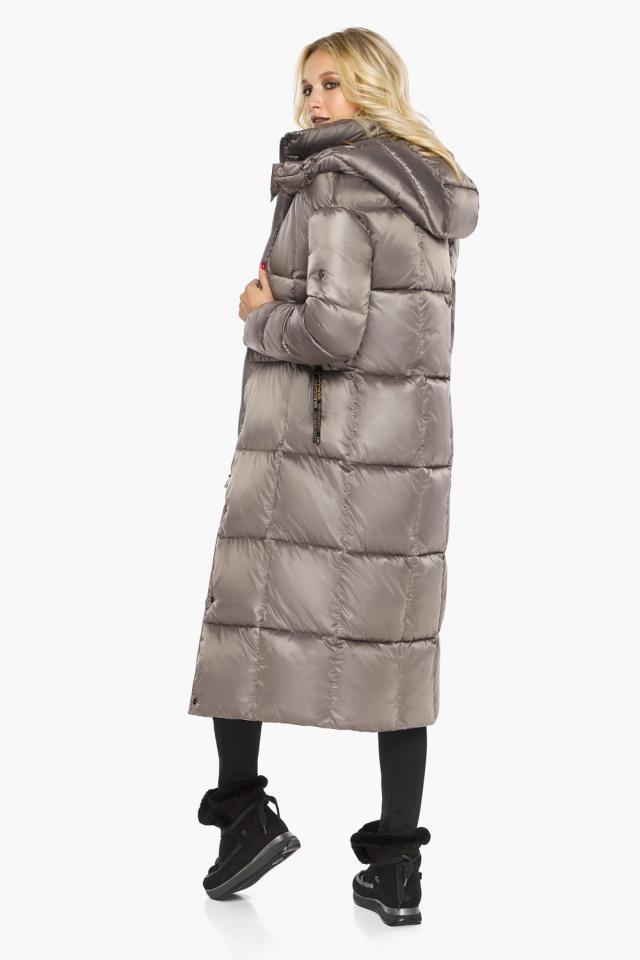 """Куртка теплая зимняя женская цвет кварцевый модель 42830 Braggart """"Angel's Fluff"""" фото 7"""