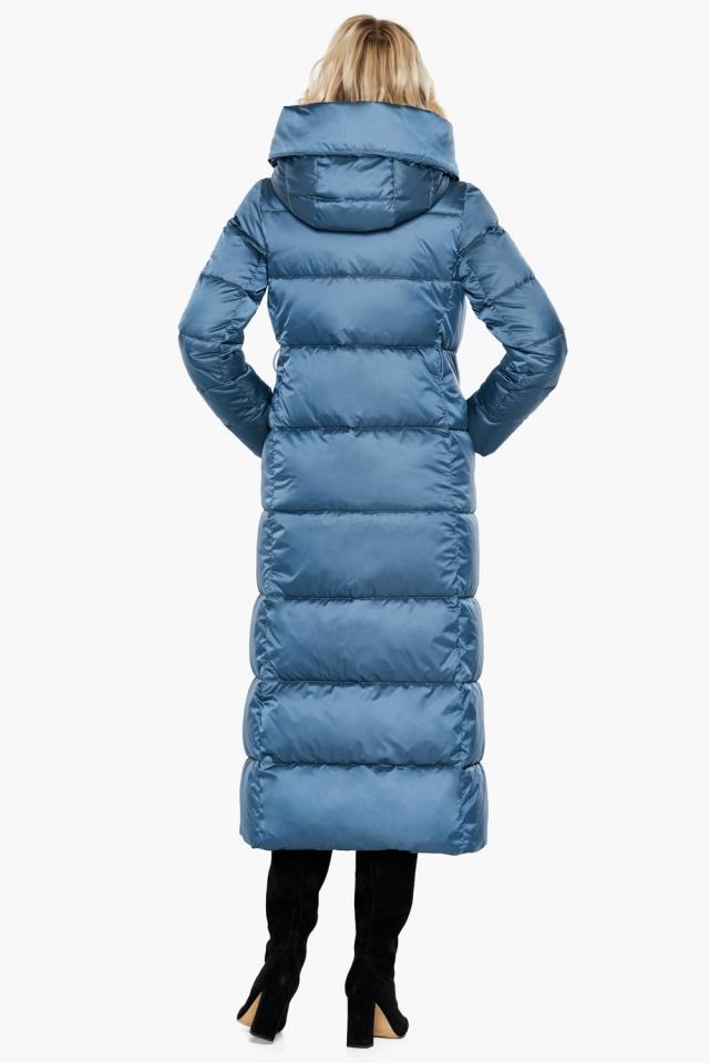 Модная женская куртка зимняя цвет аквамарин модель 31056