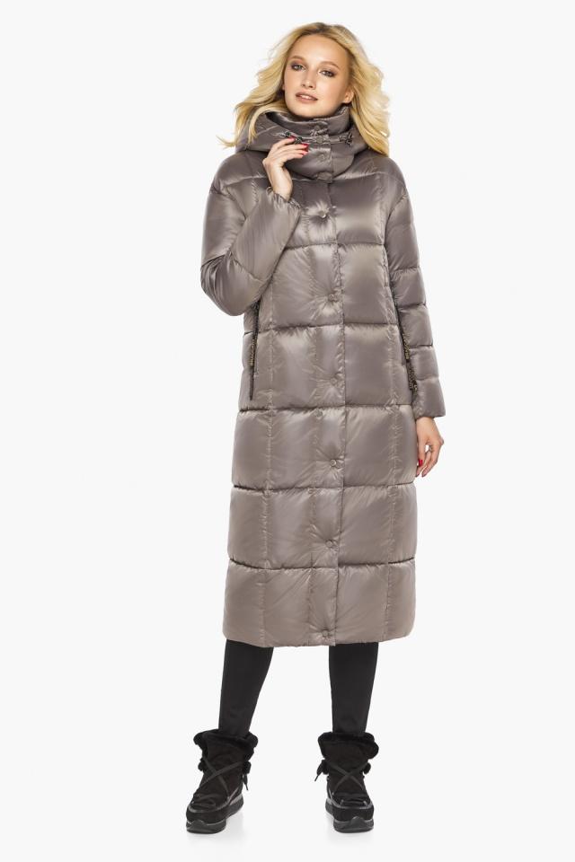 """Куртка теплая зимняя женская цвет кварцевый модель 42830 Braggart """"Angel's Fluff"""" фото 4"""