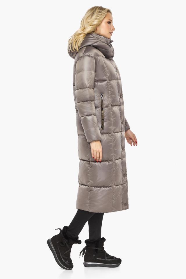 """Куртка теплая зимняя женская цвет кварцевый модель 42830 Braggart """"Angel's Fluff"""" фото 6"""