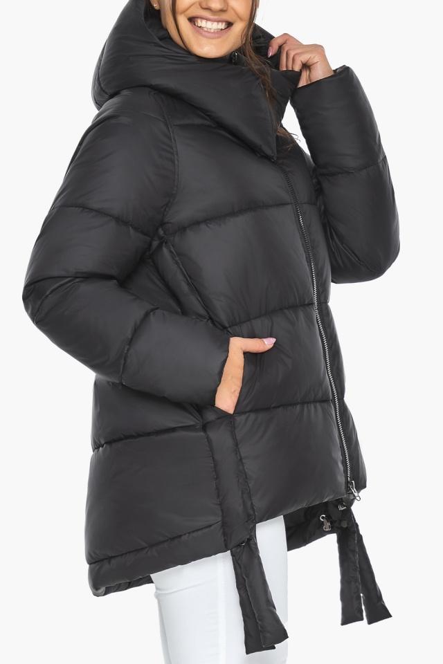 """Черная короткая куртка женская зимняя модель 43070 Braggart """"Angel's Fluff"""" фото 6"""