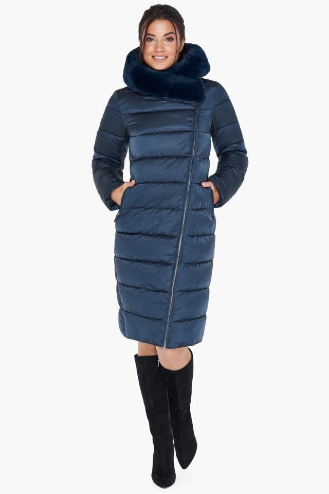 """Женская зимняя куртка цвет сапфировый модель 31049 Braggart """"Angel's Fluff"""" фото 5"""