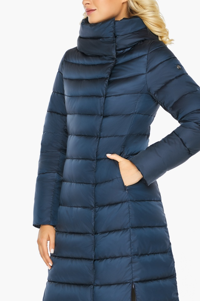 """Сапфировая куртка длинная женская модель 46620 Braggart """"Angel's Fluff"""" фото 10"""