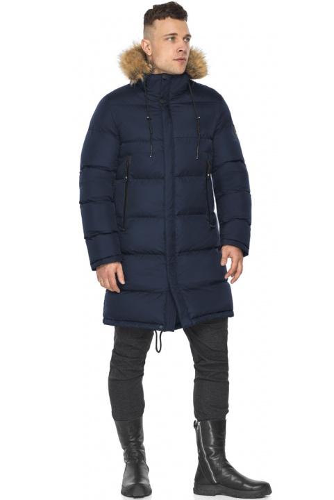 "Длинная тёмно-синяя зимняя куртка для мужчин модель 49318 Braggart ""Dress Code"" фото 1"