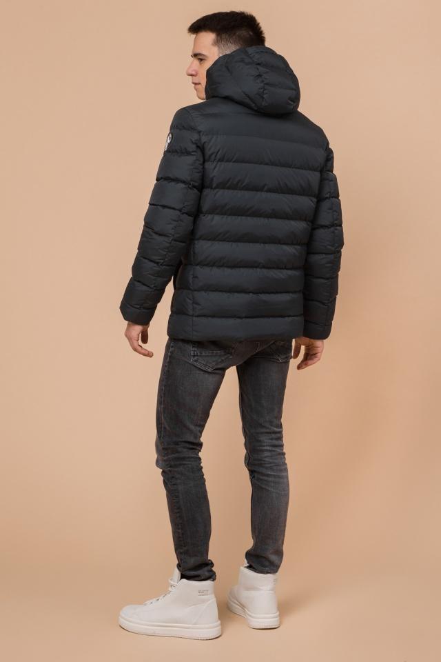"""Куртка прямого фасона для мальчика зимняя графитовая модель 76025 Braggart """"Teenager"""" фото 5"""