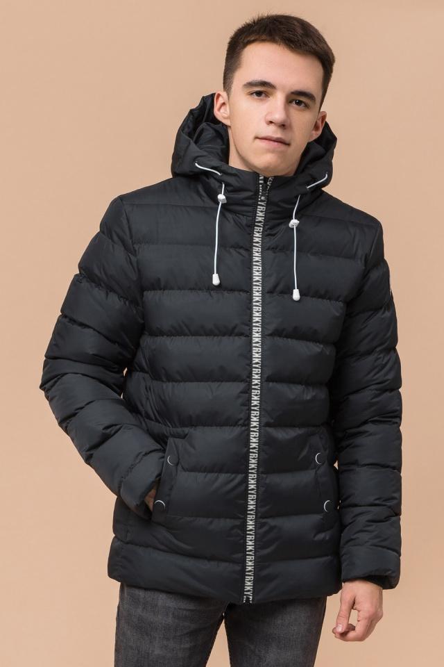 """Куртка прямого фасона для мальчика зимняя графитовая модель 76025 Braggart """"Teenager"""" фото 4"""