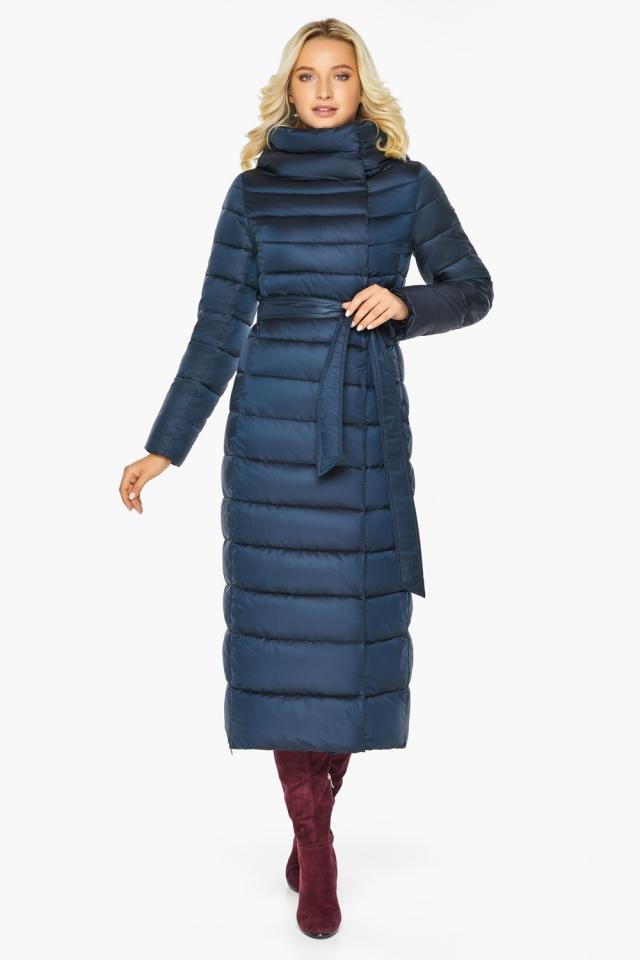 """Сапфировая куртка длинная женская модель 46620 Braggart """"Angel's Fluff"""" фото 7"""