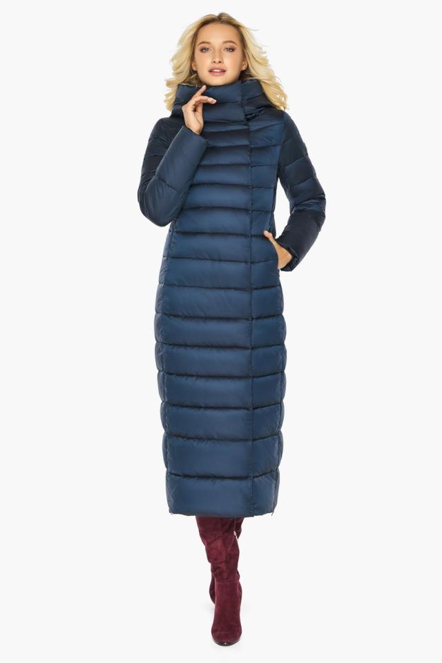 """Сапфировая куртка длинная женская модель 46620 Braggart """"Angel's Fluff"""" фото 4"""