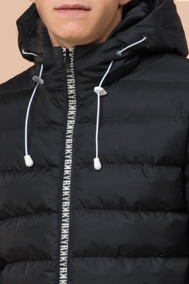 """Куртка прямого фасона для мальчика зимняя графитовая модель 76025 Braggart """"Teenager"""" фото 6"""