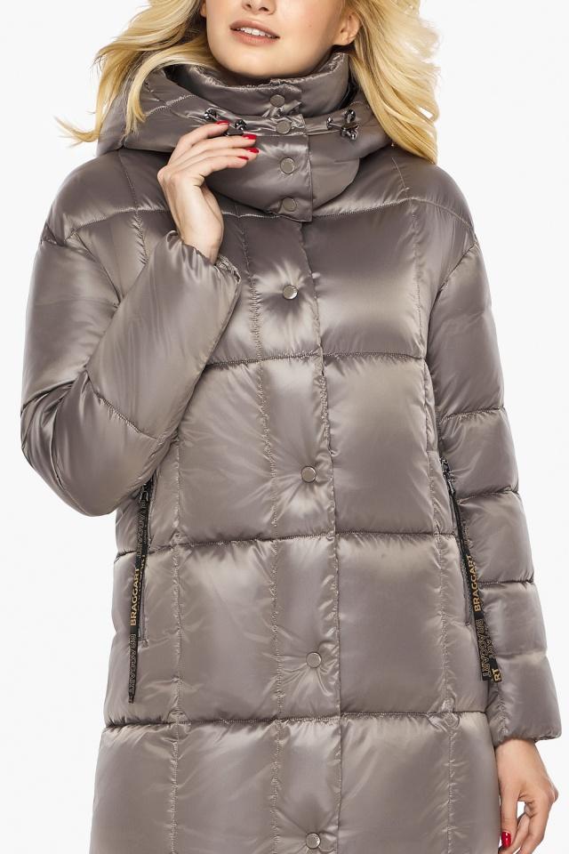 """Куртка теплая зимняя женская цвет кварцевый модель 42830 Braggart """"Angel's Fluff"""" фото 8"""