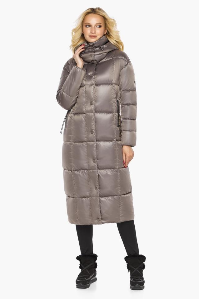 """Куртка теплая зимняя женская цвет кварцевый модель 42830 Braggart """"Angel's Fluff"""" фото 2"""
