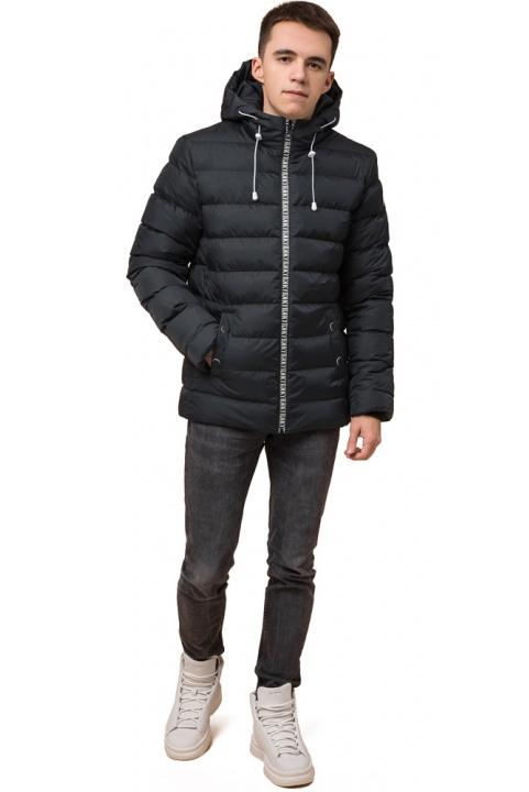 """Куртка прямого фасону для хлопчика зимова графітова модель 76025 Braggart """"Teenager"""" фото 1"""