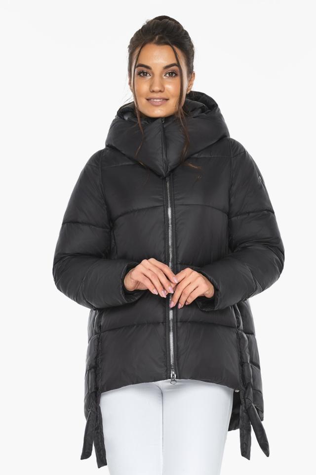 """Черная короткая куртка женская зимняя модель 43070 Braggart """"Angel's Fluff"""" фото 3"""