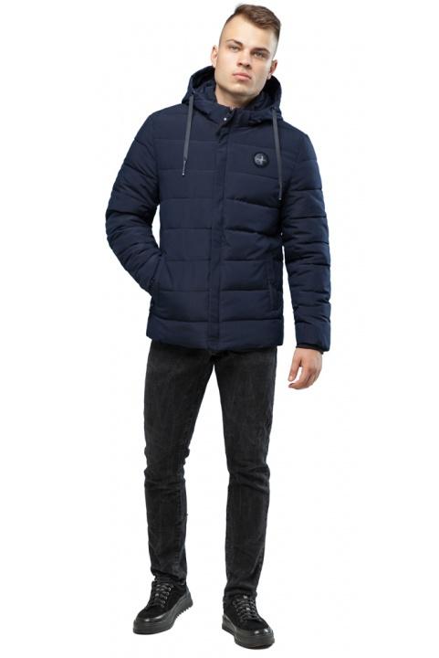 Темно-синяя куртка для мужчин теплая зимняя модель 6015 Kiro Tokao фото 1